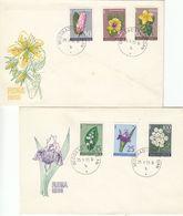 FDC YUGOSLAVIA 1034-1039,flowers - FDC