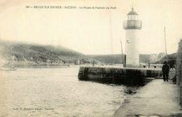 Belle Ile En Mer * Sauzon * Le Phare Et L'entrée Du Port * éditeur F. Decker N°140 - Belle Ile En Mer
