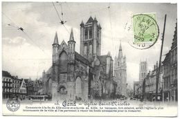 Belgium – 10. Gand (Gent) – Eglise Saint-Nicolas – Year 1920 – Stamp 5 C With King Albert - Gent