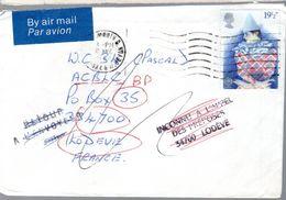 """LETTRE  1982 -  GRIFFES LINEAIRES """"RETOUR A L'ENVOYEUR"""" Et  """"INCONNU A L'APPEL DES PREPOSES"""" - - 1952-.... (Elizabeth II)"""