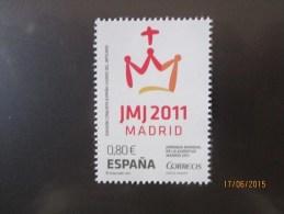 VATICANO 2011 CONGIUNTA SPAGNA GIORNATA MOND. GIOVENTU' MADRID  MNH ** - Vatican