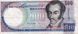 VENEZUELA 500 BOLIVARES 1995 P-67e  CIRC. - Venezuela