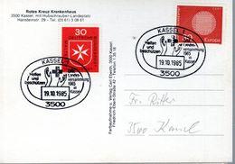 CARTE POSTALE ALLEMAGNE 1985  -  CROIX ROUGE ALLEMANDE A CASSEL - - Croix-Rouge
