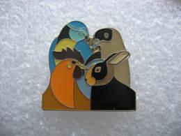 Pin's Perroquet, Perruche Et Lapin - Animals