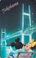 JAPAN  - TC JAPON / 110-177901 - DISNEY - Série VOYAGE N° 7/43 - MICKEY & MINNIE / Love In YOKOHAMA BRIDGE  Phonecard - Disney