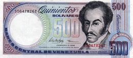 VENEZUELA 500 BOLIVARES 1998 P-67f  Unc - Venezuela