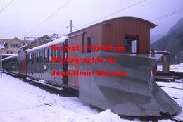Reproduction Photographie D'un Train Avec Chasse Neige Schynige Platte Bahn Du Chemin De Fer à Crémaillère Suisse 1970 - Reproductions
