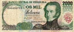 VENEZUELA  2000 BOLIVARES 1998 P-77d   CIRC. - Venezuela
