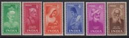 India Sc 237-242 (SG 337-342), MHR - India (...-1947)