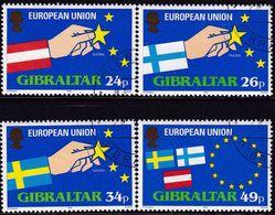 GIBRALTAR 1995 SG #736-39 Compl.set Used Expansion Of European Union - Gibraltar