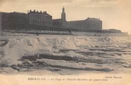 62 - BERCK-PLAGE - La Plage De L'Hôpital Maritime Par Grand Froid. - Berck