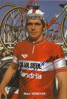 CARTE CYCLISME MARC DEMEYER SIGNEE TEAM CAVA SEUL 1979 - Cyclisme