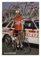CARTE CYCLISME RENE MARTENS TEAM CAVA SEUL 1979 - Cyclisme