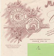 Facture 1 / Illustrée /1925 / CHAMPIEUX Fils / Manufacture Bonneterie / Bas à Côtes, Laine, Coton / Troyes 10 Aube - France