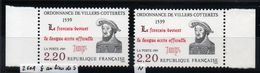 YT N° 2609 - ç Au Lieu De S + Normal - Neufs ** - Varieteiten: 1980-89 Postfris