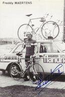 CARTE CYCLISME FREDY MARTENS SIGNEE TEAM CAVA SEUL 1979 ( DECOUPE, FORMAT 9,8 X 14,8 - Radsport