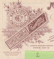 Facture 2 / Illustrée /1929 / CHAMPIEUX & Cie / Manufacture Bonneterie / Bas à Côtes, Laine, Coton / Troyes 10 Aube - France