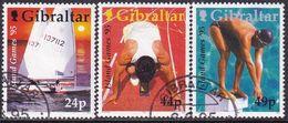 GIBRALTAR 1995 SG #745-47 Compl.set Used Island Games - Gibraltar