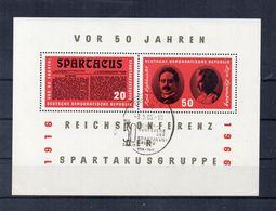 Germania - DDR - 1966 - Blocco Foglietto - 50 Anni Gruppo Spartacus - Nuovo - (FDC22781) - [6] Democratic Republic