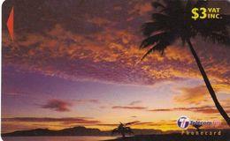 FIJI ISL.(GPT) - Palm At Sunset, CN : 31FKB(small CN, Normal 0), Used - Figi