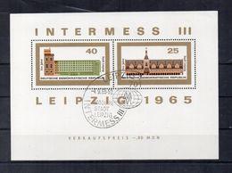 Germania - DDR - 1965 - Foglietto - 800° Anniversario Della Città Di Lipsia - Annullato - (FDC22783) - [6] Democratic Republic