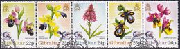 "GIBRALTAR 1995 SG #749-53 Compl.set In A Strip Of 5 Used ""Singapore '95"" - Gibraltar"