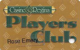 "Casino Regina Saskatchewan Canada Slot Card - Name On Clear Label - Card Has 3/4"" Split ! - Cartes De Casino"