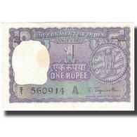 Billet, Inde, 1 Rupee, Undated (1967), KM:77b, SPL - Inde