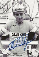 CARTE CYCLISME RENE BITTINGER SIGNEE TEAM CAVA SEUL 1979 - Cyclisme