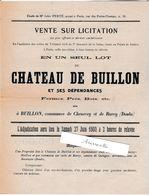 Petite Affiche A4   1903 / Vente Du Château De Buillon ( Chenecey-Buillon) Rurey 25 Doubs / Parc Bord De Loue / 230 Ha - France