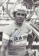 CARTE CYCLISME JOAQUIM AGOSTINHO SIGNEE TEAM CAVA SEUL 1979 - Cyclisme