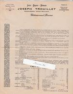 Tarif 1931 / Joseph TROUILLET / Fruits Légumes Primeurs / 13 Châteaurenard BDR - France