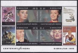 GIBRALTAR 1995 SG #MS756 2 M/s Used Centenary Of Cinema - Gibraltar