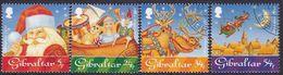 GIBRALTAR 1995 SG #757-60 Compl.set Used Christmas - Gibraltar