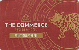 Commerce Casino Commerce, CA - 2019 Year Of The Pig Slot Card - Cartes De Casino
