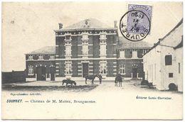 Souvret – Château De M. Mattez, Bourgmestre – Year 1920 – Stamp 15 C With King Albert Violet - Belgique