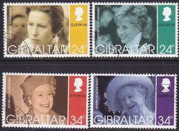 GIBRALTAR 1996 SG #767-70 Compl.set Used Europa. Famous Women - Gibraltar