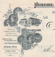 Facture 1903 / Joseph COREN / Huilerie Savonnerie / Filature Moulinage De Soies / 13 Salon De Provence BDR - France