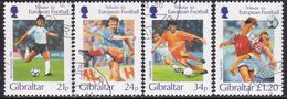 GIBRALTAR 1996 SG #771-75 Compl.set+m/s Used European Football Championship - Gibraltar