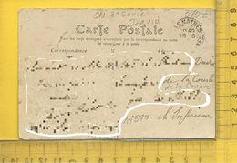 CARTE NOMINATIVE : DAVID ( Gardien De Sémaphore )  à  17570  La Coubre  Les Mathes - Ansichtskarten
