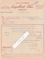 Facture 1948 / ENJALBERT Frères / Vins Alcools / 11 Narbonne Aude - France