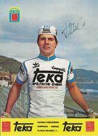 CARTE CYCLISME DANIELE TINCHELLA SIGNEE TEAM TEKA 1979 FORMAT 12 X 16,5 - Wielrennen