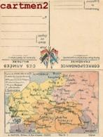 DEPLIANT GUERRE 1914 CARTES DU FRONT ORIENTAL PRUSSE POLOGNE ROUMANIE DARDANELLES PATRIOTISME ROMANIA ARMEES - War 1939-45