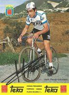 CARTE CYCLISME JOSE PESARRODONA SIGNEE TEAM TEKA 1979 FORMAT 12 X 16,5 - Wielrennen