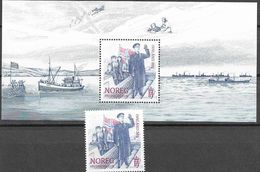 NORWAY, 2020, MNH , WWII, 75 YEARS OF PEACE, SHIPS, 1v+S/SHEET - 2. Weltkrieg