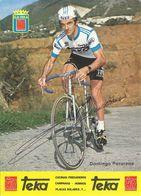 CARTE CYCLISME DOMINGO PERURENA SIGNEE TEAM TEKA 1979 FORMAT 12 X 16,5 - Wielrennen