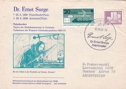 DR. ERNST SORGE POLARFORSCHER. ALLEMAGNE DDR SPC ANNEE 1983, CIRCULEE A ARGENTINE -LILHU - Events & Commemorations