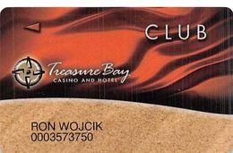 Treasure Bay Casino Biloxi MS - Slot Card - P645317 & BIL On Back But NO PG - Cartes De Casino