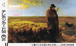 JAPAN - The Return Of The Flock By Millet(250-028), 06/86, Used - Japon