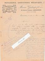 Facture 1914 / Marius GALAUP / Menuiserie ébénisterie / 11 Carcassonne / Aude - France